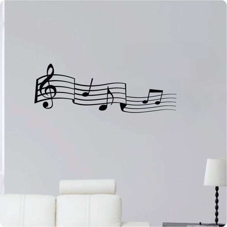 "Amazon.com - 36"" Music Note Scale Detailed Symbols Sheet G Clef Treble Wall Decal Sticker Art Mural Home Décor Quote -"