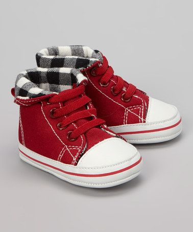 Take a look at this Chili Pepper Gingham Collar Sneaker on zulily today!