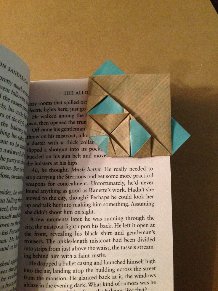 Panda head origami bookmark I made based