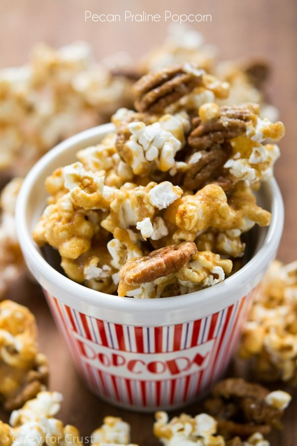 Pecan Praline Popcorn from Party Popcorn - Crazy for Crust #delicious #recipe #cake #desserts #dessertrecipes #yummy #delicious #food #sweet