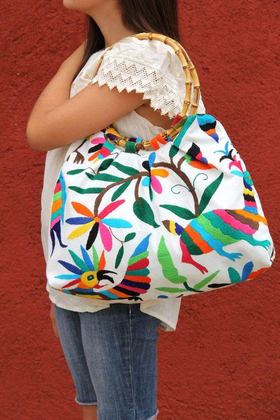 Otomi Multi colored Handbag  with BambooOOAK