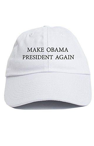 bc3d7755ff6 Buff Make Obama President Again Dad Hat Baseball Cap Unstructured New -  White