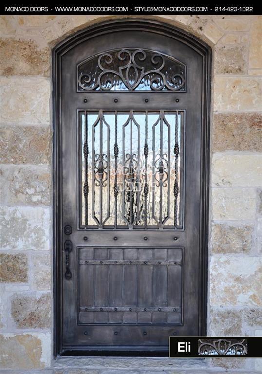 Wrought Iron Single Entry Door   Iron Doors - Eli Custom Door