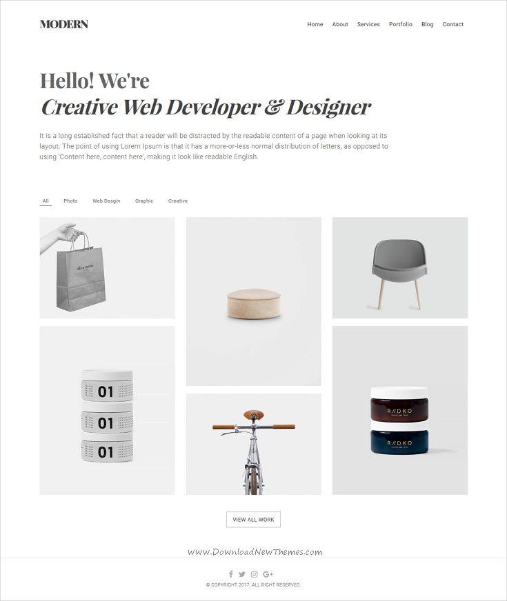 Air. Lightweight Portfolio HTML Theme   Fotografie, Layout und ...