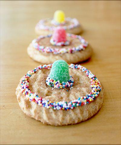 sombreros de galletas con gomitas