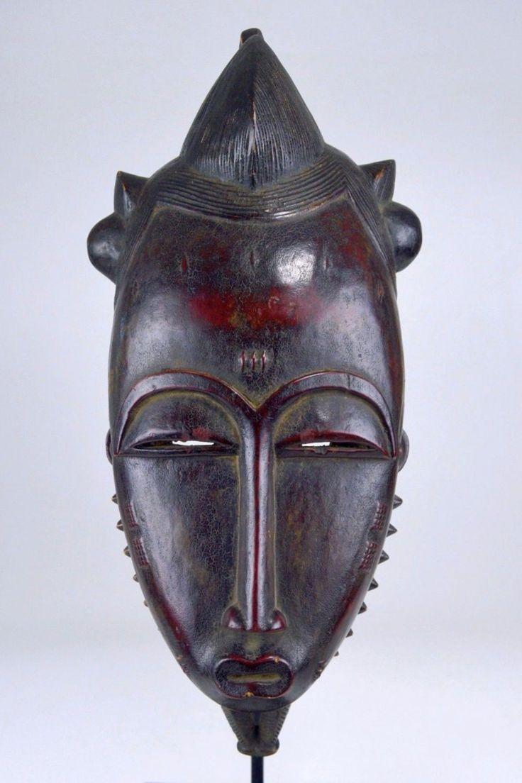 Handsome Old Baule Mblo Portrait Mask, African Mask
