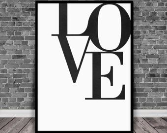Love Word Art Love Print, Love Wall Art, Love Poster, Love, Typography Wall Art, Modern Wall Art, Love Art Prints, Printable Art, Love Letter, Love Big