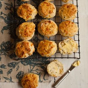 Easy cheese and herb scones with lemonade
