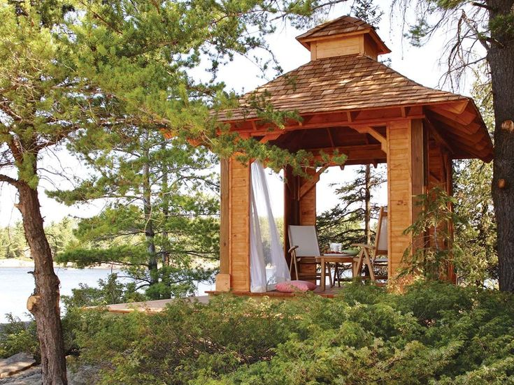 Free Plans to Help You Build a Wooden Gazebo: Square Gazebo Plan from The Wood Plans Shop