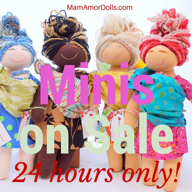 24 hours ONLY! Offer ends tomorrow Sept. 03 at midnight (MST). Don't miss out!  http://www.mamamordolls.com/collections/mamamor-mini