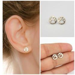 Simple Dog Paw Earrings