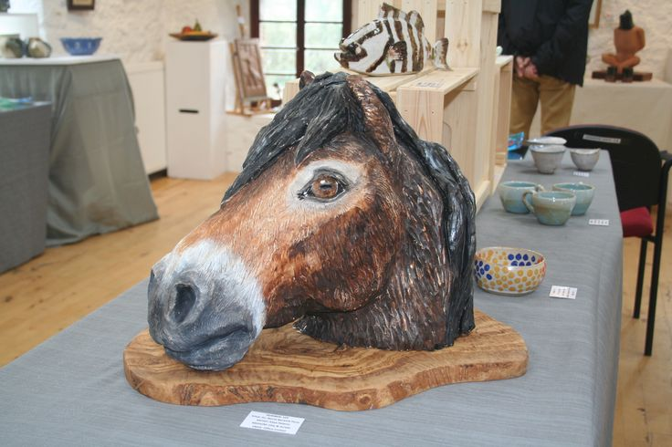 My finished sculpture at the Poldrate Arts & Crafts exhibition in Haddington