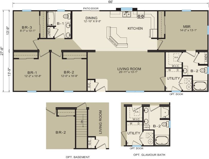 Michigan modular home floor plan 3673 good home ideas for Modular homes with basement