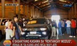"""© Provided by GMA News Online Rentangay cars found in Subic warehouse The Philippine National Police-Highway Patrol Group (PNP-HPG) announced that it has a new witness against alleged car rental scam mastermind Rafaela Anunciacion. """"He or she is a trusted personnel/employee ni Rafaela..."""