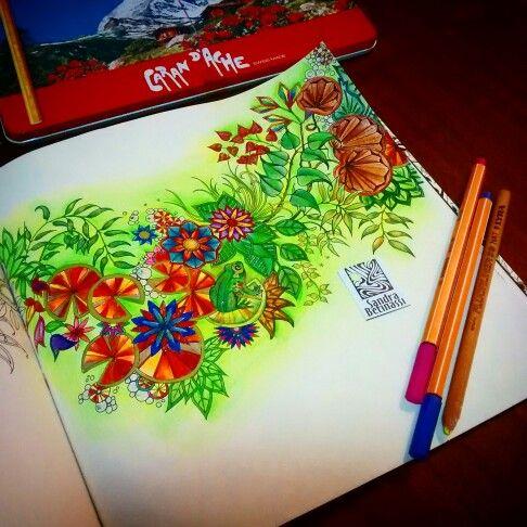 Instagram Sandrabetinassi The Secret GardenSecret GardensWatercolor PencilsAdult ColoringColoring BooksColored