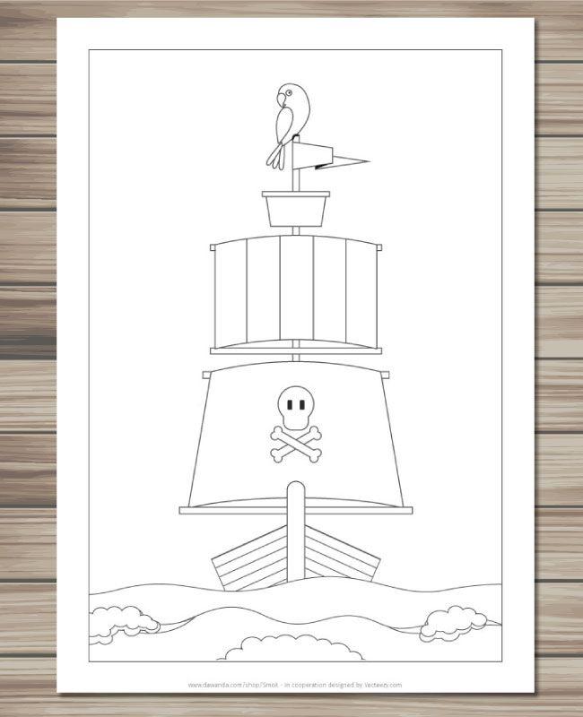 pdf ausmalbilder piraten ausmalbilder kinder malbuch
