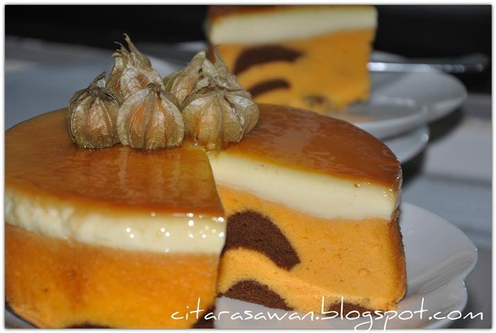 Recipes today - Kek Oren Puding Karamel
