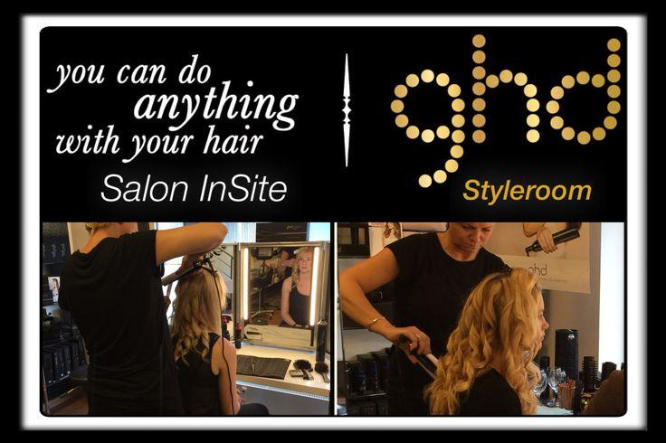 Vi takker Karina fra ghd, for en super skøn,hyggelig & meget lærerig dag...  Vores kunder er blevet forkælet, og har fået tips & tricks til hvordan håret kan glattes, krølles, have bølger & fald og meget meget mere ...  Vi glæder os til, snart at se dig igen til endnu flere ghd Styleroom events  Tak for en virkelig fed dag   Team InSite www.saloninsite.dk