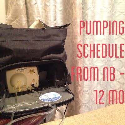 Naptime Tales: Pumping Schedule (for both nursing and exclusive pumping)