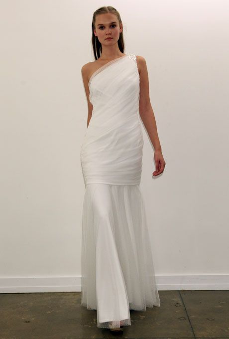 Brides: Tadashi Shoji Wedding Dresses - Fall 2012 | Bridal Runway Shows | Wedding Dresses and Style | Brides.com