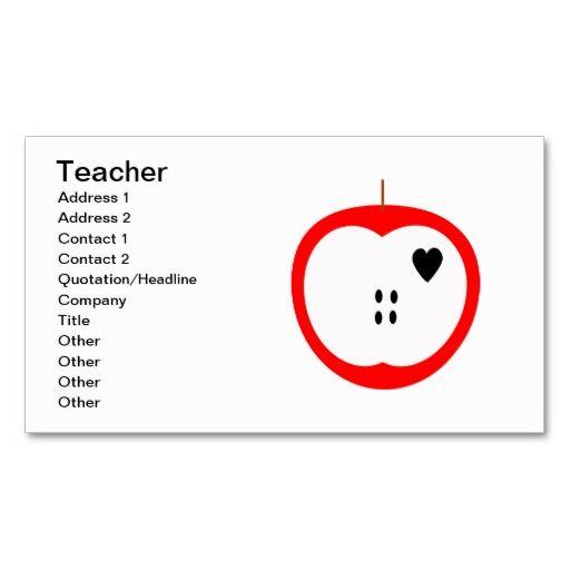teacher business cards km creative