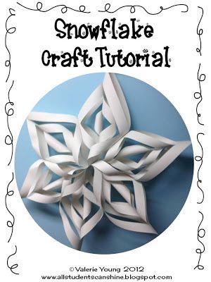 Classroom Freebies Too: Snowflake Craft