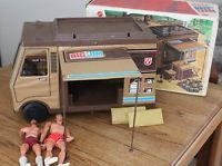 Vintage 1972 Big Jim Sports Camper w/ Box (Boat not included) - 2 Action Figures