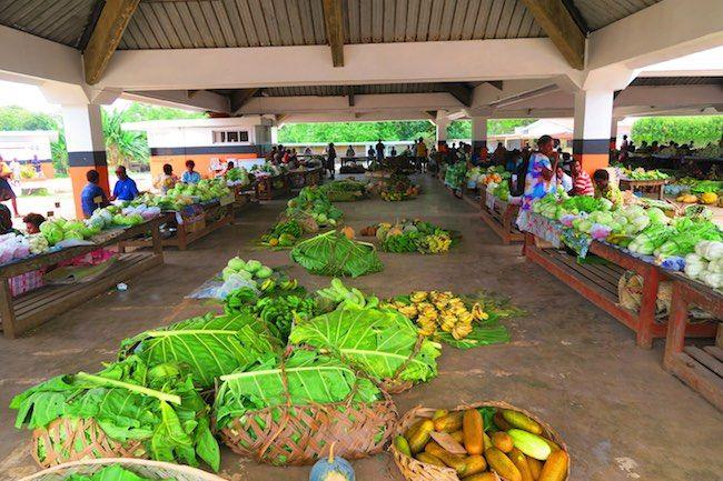 The market in Luganville - Espiritu Santo Island, Vanuatu