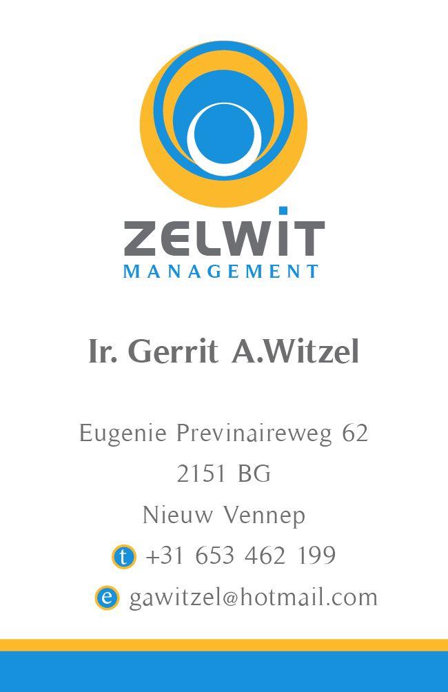 Business Card for Zelwit Management