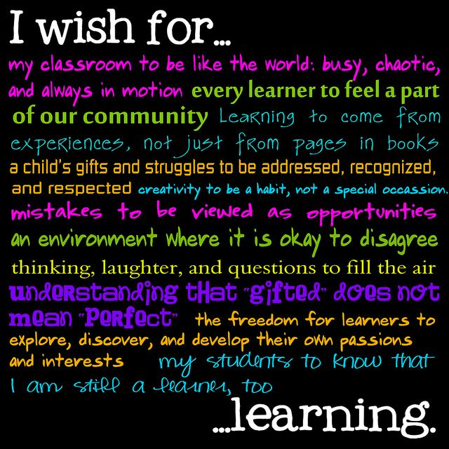 I wish for my classroom to be like the world... #teaching #inspiration #quotes