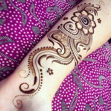 Flower Pattern Beautiful Mehndi Design For Arm