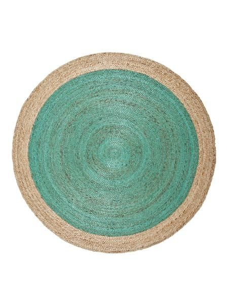 Pinwheel braid weave rug - neptune green from Antipodream