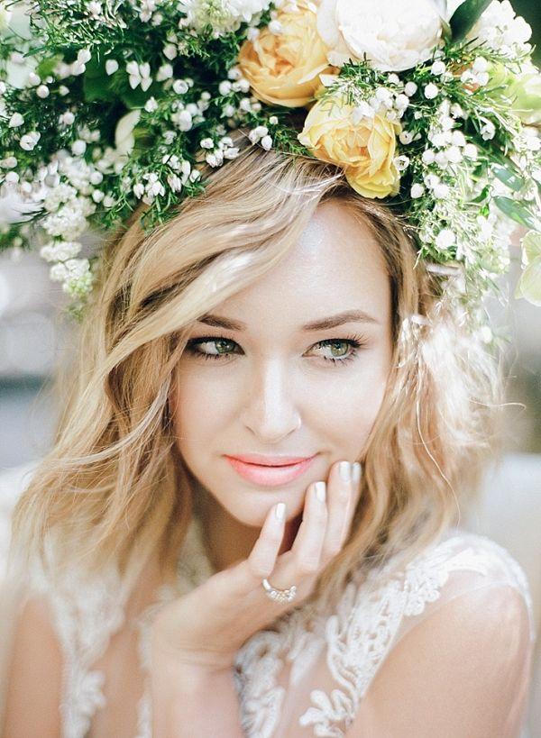 Floral crown  #wedding #weddings #weddinginspiration #engaged #aislesociety #summerwedding