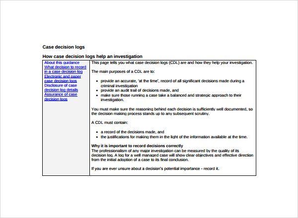 12 Decision Log Templates Templates Decisions Excel Templates