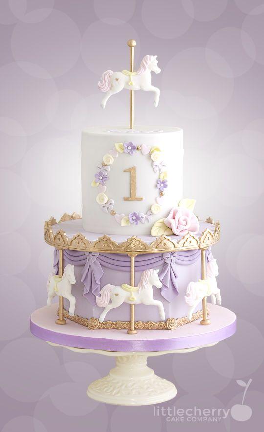 Pastel Carousel Cake