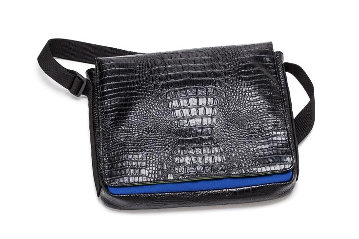 Lexington Landscape Messenger Bag (Black) Large front flap with Velcro  closure ced65466a027c