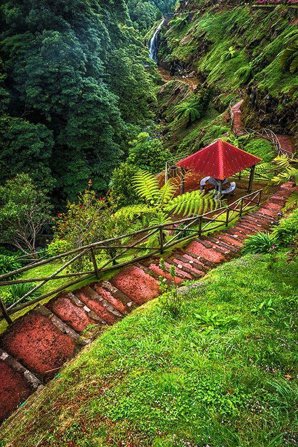 Natural Park of Ribeira Potholes, São Miguel Island, Azores Portugal