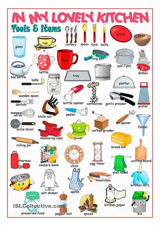Кухонные предметы на английском языке