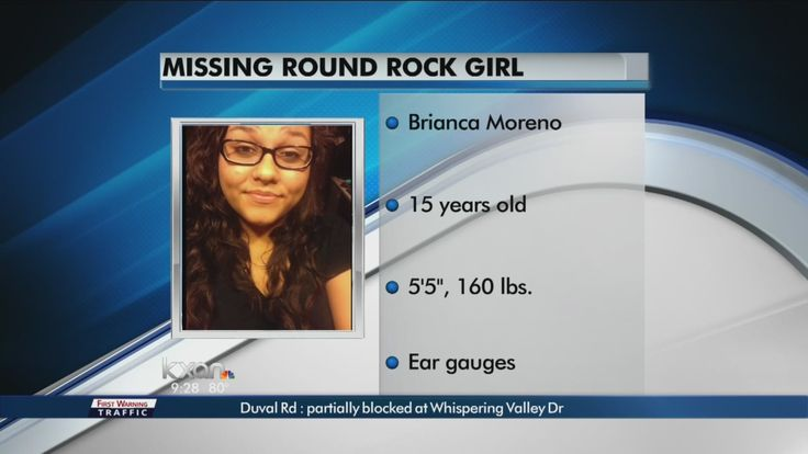 "ROUND ROCK, Texas near Austin (KXAN) — Round Rock police are on the lookout for a teenager who went missing on Monday morning.  Crystal McCarty reached out to KXAN News saying her 15-year-old daughter Brianca Moreno wasn't feeling well and that she left a friend's house around 11:30 a.m. Monday. Moreno was last seen walking from her friend's home near Hernandez Middle School.  ""Last thing I told her was I loved her,"" said McCarty, adding that Moreno was not a troublemaker and that she is a…"