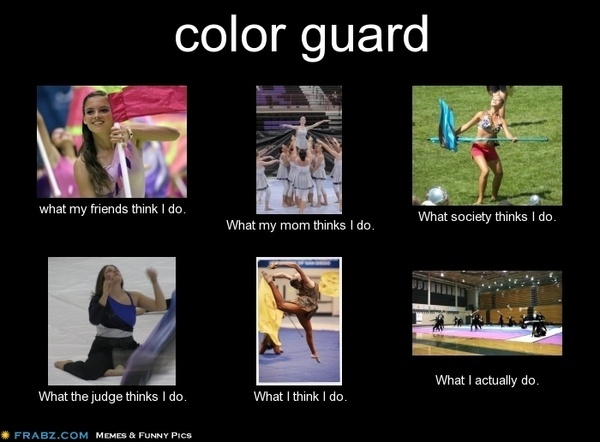 colorguard and winter guard compare and Marching band color guard vs winter guard color guard is the visual and the non musical part of a marching band show color guard consists of spinning either a three and one half pound rifle or a five and one half foot flag outside, striving for.