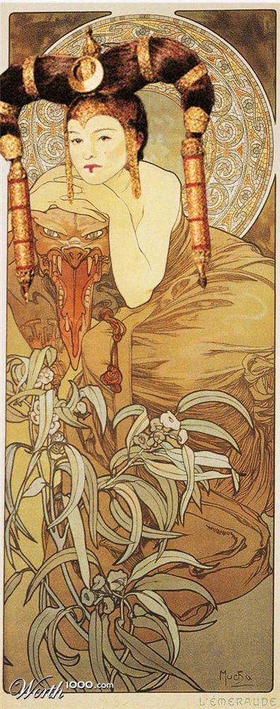 padme amidala - alphonse mucha style    (i wish the movies were more like this)
