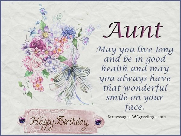 Birthday Wishes for Aunt - Messages, Greetings and Wishes
