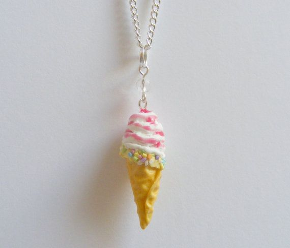Food Jewelry Soft Whipped Ice Cream Miniature Food by NeatEats