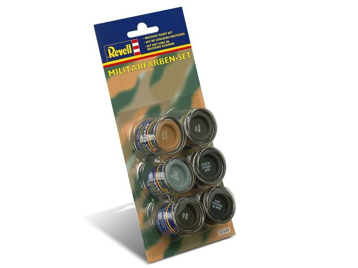 Revell Enamels 14ml Military Colour Paint Set: Revell Email Color is a synthetic resin enamel paint that does… #UKOnlineShopping #UKShopping