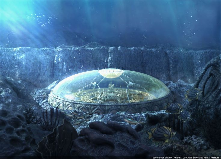 It seems, since the city is Atlantis, they are just humans that built an underwater city inside a waterproof dome. Description from thrivegame.canadaboard.net. I searched for this on bing.com/images