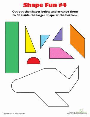 Shape Fun airplane worksheet