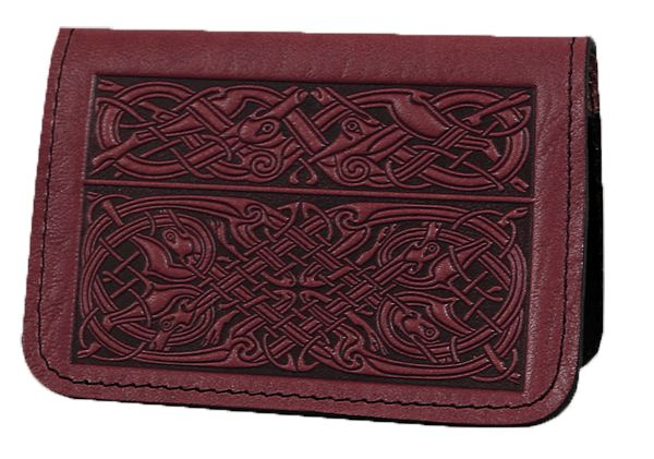 Leather Card Holder Celtic Hounds | 2 Colors