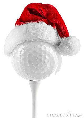 Pelota de golf con gorro de Santa Clauss. Papá Noel.                                                                                                                                                                                 Más