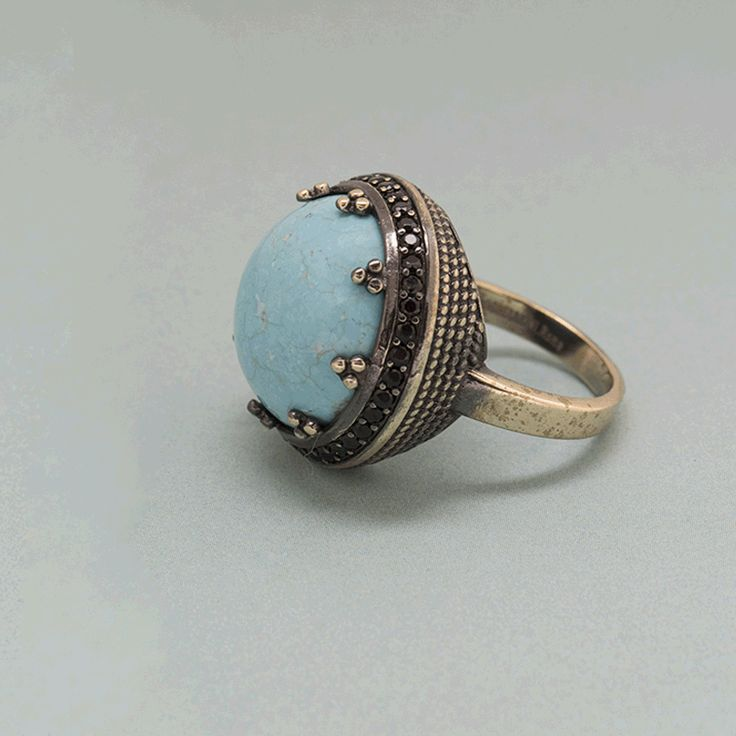 RING WITH TURQUOISE #IOSSELLIANI