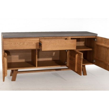 1000 ideas about buffet bois on pinterest commode tv for Commode metallique industrielle